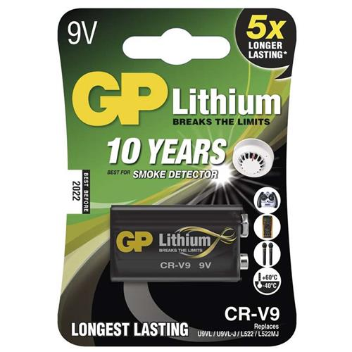 Lithiová batéria GP CR-V9 9V - 1ks 1022000911
