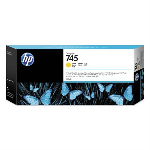 HP 745 300-ml Yellow Ink Cartridge F9K02A