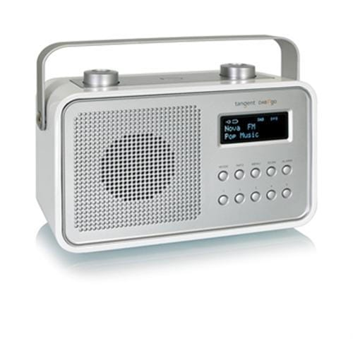 Rádio Tangent DAB2go dizajnové prenosné DAB+/FM retro biele 21002