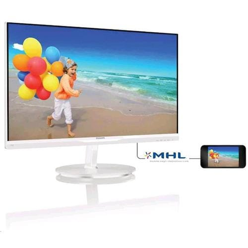Monitor Philips 234E5QHAW/00,  23, AH-IPS, 1920x1080, 20 000 000:1, 5ms, 250cd, D-SUB, HDMI MHL, repro, biely