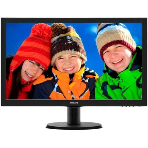 "Monitor Philips 243V5LSB, 23.6"", LED, 1920x1080, 5ms, 10M:1, 250cd, D-SUB, DVI, čierny"