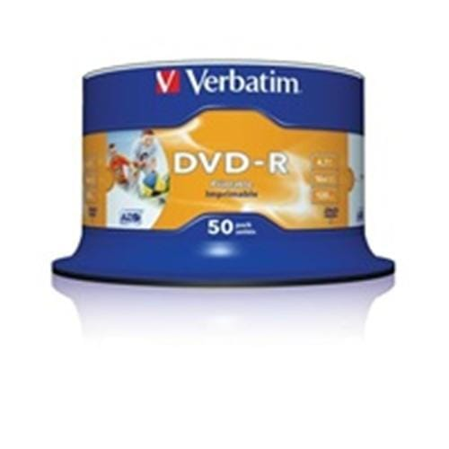 Verbatim DVD-R(50-pack)/16x/4,7GB/ThermoPrintable 43755