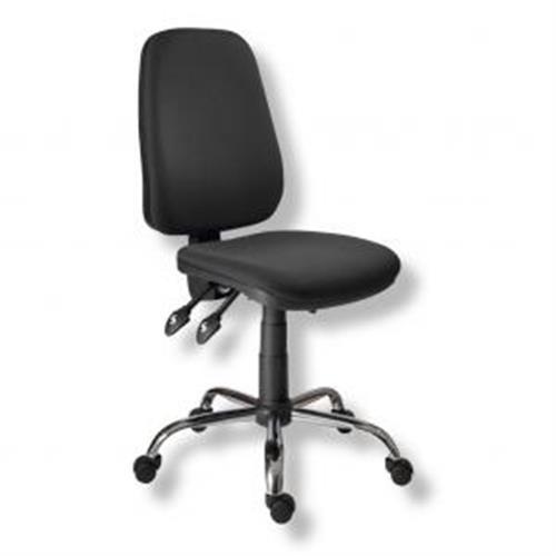 Kancelárska stolička 1140ASYN C chróm/čierna AM117T AN114000