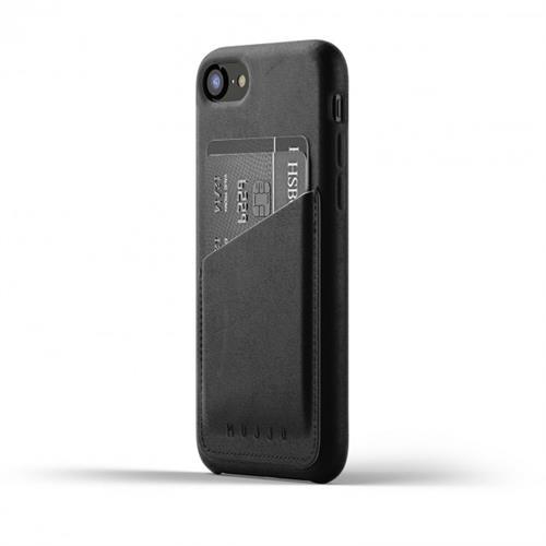 MUJJO Full Leather Wallet Case pre iPhone 8 / 7 - čierny MUJJO-CS-090-BK