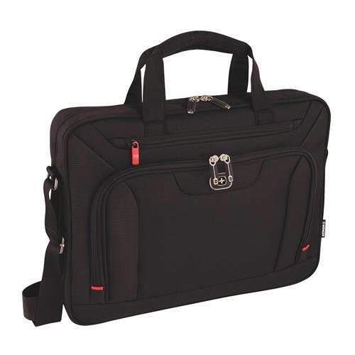"""WENGER INDEX - 16"""" štíhla taška na notebook a tablet, čierna 600658"""
