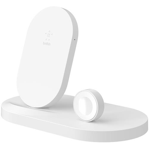 BELKIN bezdrôtová QI nabíjačka, 7.5W, pre Apple Watch/iPhone, s USB, biela F8J235vfWHT