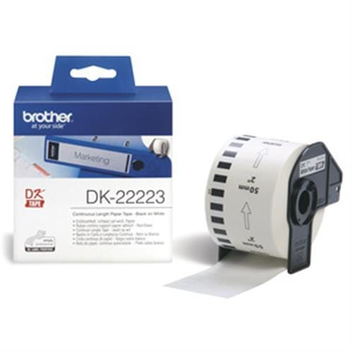 Rolka BROTHER DK22223 Continuous Paper Tape (Biela 50mm)