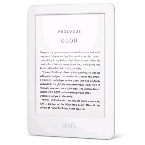 E-book AMAZON KINDLE TOUCH 2020, 6'', 8GB E-ink podsvietený displej, WIFi, biely, SPONZOROVANÁ VERZIA 841667128252