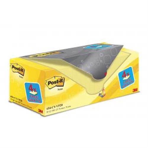 Bločky Post-it 76x76 žlté 20x100l MM065455