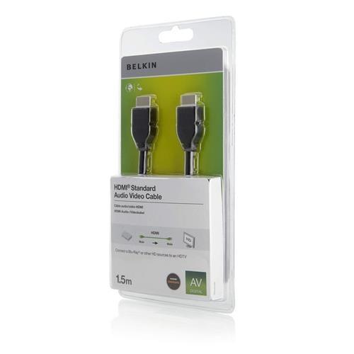BELKIN HDMI - HDMI 1.4 AV kábel, 1.5 m F3Y017cp1.5MBLK