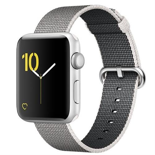Apple Watch Series 2, 42mm Silver Aluminium Case with Pearl Woven Nylon Band