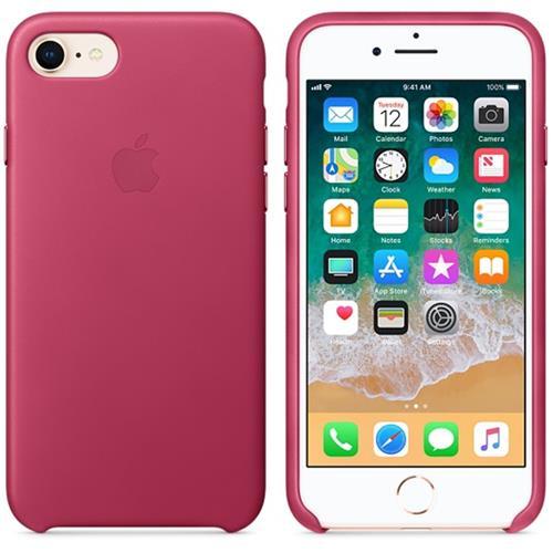 Apple iPhone 8 / 7 Leather Case - Pink Fuchsia MQHG2ZM/A