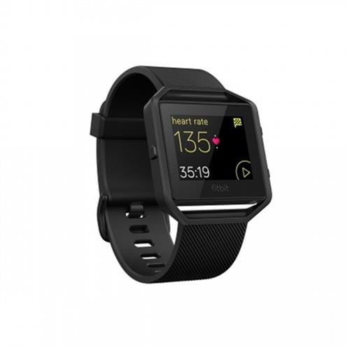 Fitbit Blaze, Black, Gunmetal, Large