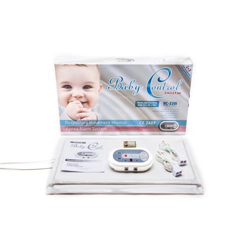 Monitor dychu Baby Control BC-220i, pre dvojčatá s 2x1 senzorovými podložkami 119973
