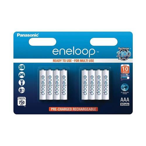 Panasonic Eneloop R03/AAA 750mAh, 8 ks, Blister BK-4MCCE-8BE