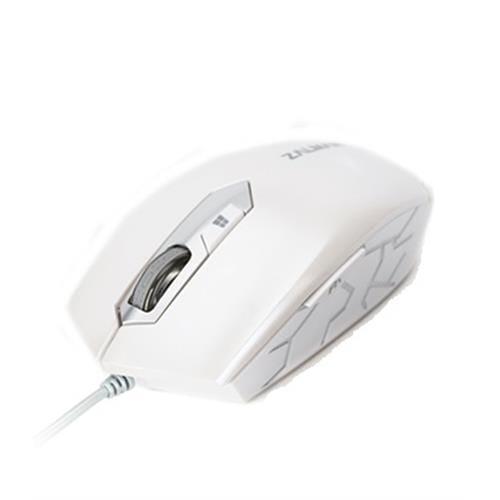 Myš Zalman ZM-M130C optická, 2400DPI, white, USB ZM-M130C WHITE