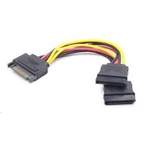 Kábel SATA napájací na 2x SATA, rozdvojka, 15cm CC-SATAM2F-01