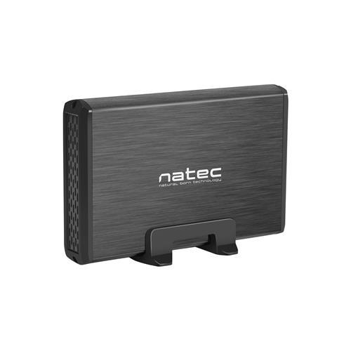 Externý box pre HDD 3,5'' USB 3.0 Natec Rhino, čierny, vrátane napájacieho adaptéru NKZ-0448