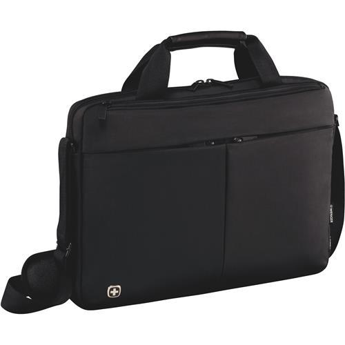 """WENGER FORMAT - 14"""" štíhla taška na notebook a tablet, čierna 601079"""