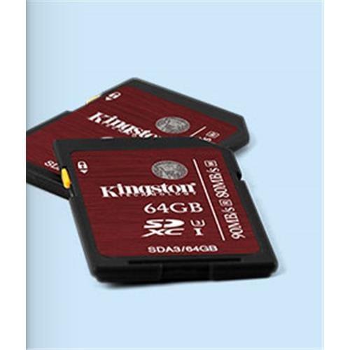 Kingston 64GB SDHC/SDXC Class 10 UHS-I U3 SDA3/64GB