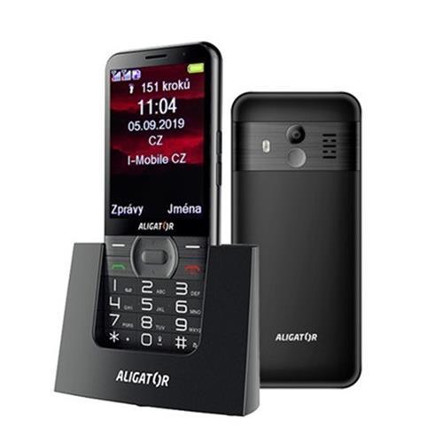 ALIGATOR A900 Senior čierny + stolná nabíjačka A900B