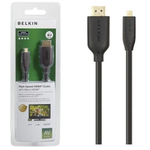 BELKIN HDMI - Micro HDMI kábel Gold, 3 m F3Y030bf3M
