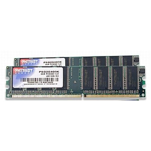 Patriot RAM DDR 2GB(2x1GB) SL PC3200 400MHz CL3