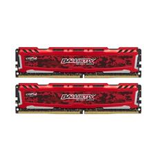 kit 16GB DDR4-2400MHz Crucial Ballistix Sport LT Red CL16 SRx8 uDIMM kit 2x8GB