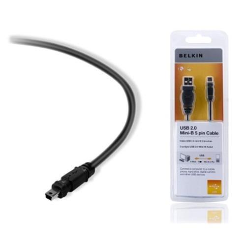 Kábel BELKIN USB 2.0 A-MiniB 5pin štandard, 3.0 m F3U155cp3M