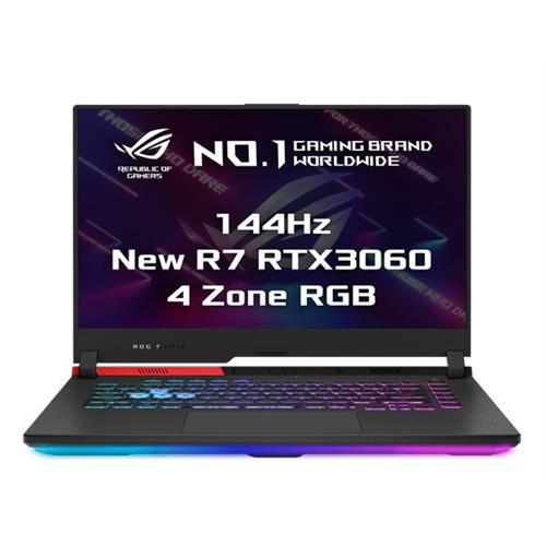 """ASUS ROG Strix G15 G513QM-HN011T AMD R7-5800H 15.6"""" FHD mat 144Hz RTX3060/6GB 16GB 512GB SSD WL BT W10 CS;"""