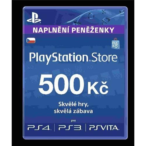 Sony PlayStation Live Cards á 500 CZK PS719167853