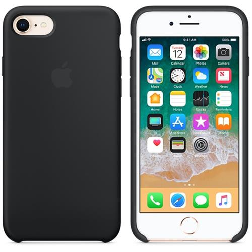 Apple iPhone 8 / 7 Silicone Case - Black MQGK2ZM/A