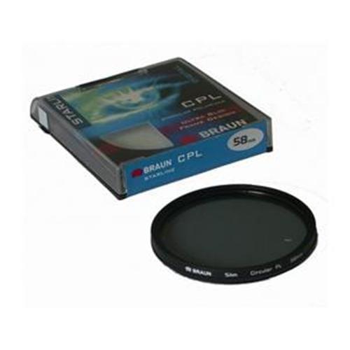 BRAUN C-PL polarizačný filter StarLine - 58 mm 14242