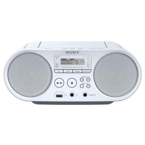 Sony mp3/CD/Radio prehrávač ZS-PS50CP, biely ZSPS50W.CET