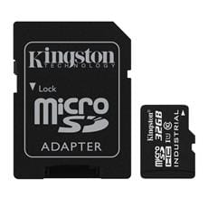 Kingston 32GB microSDHC UHS-I Industrial Temp + SD adaptér