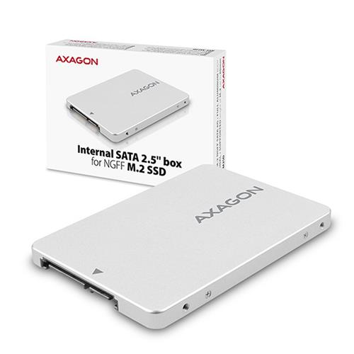 AXAGON RSS-M2SD, SATA - M.2 SATA SSD, interný 2.5'' ALU box