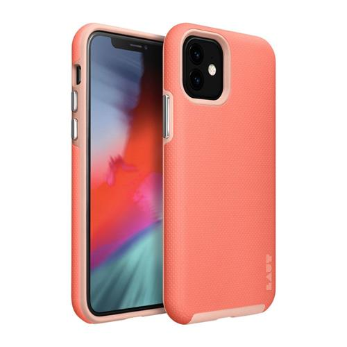 LAUT Shield – Case for iPhone 11, Coral LAUT-IP19M-SH-P