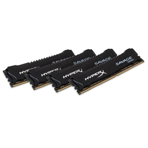 Kingston 64GB DDR4-2400MHz CL14 XMP HyperX Savage Black, 4x16GB