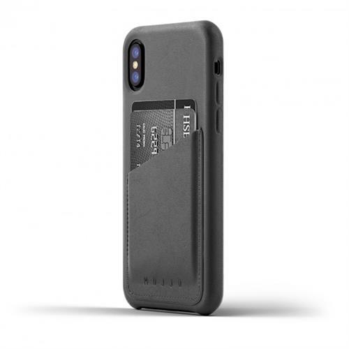 MUJJO Full Leather Wallet Case pre iPhone X - šedý MUJJO-CS-092-GY