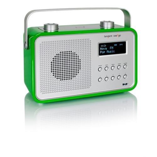 Rádio Tangent DAB2go dizajnové prenosné DAB+/FM retro zelené 21005