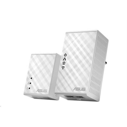 ASUS PL-N12 1x Powerline Wireless N300 Extender AV500 + 1x Powerline Adapter AV500 90IG01V0-BO2100