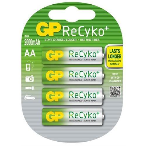Nabíjacie batérie GP AA Recyko+ (2000 mAh 4ks) 1033214073
