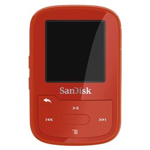SanDisk MP3 Sansa Clip Sport Plus 16 GB červená SDMX28-016G-G46R