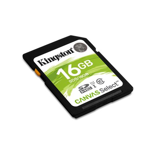 Kingston 16GB SDHC Class 10 UHS-I ( r80MB/s, w10MB/s ) SDS/16GB