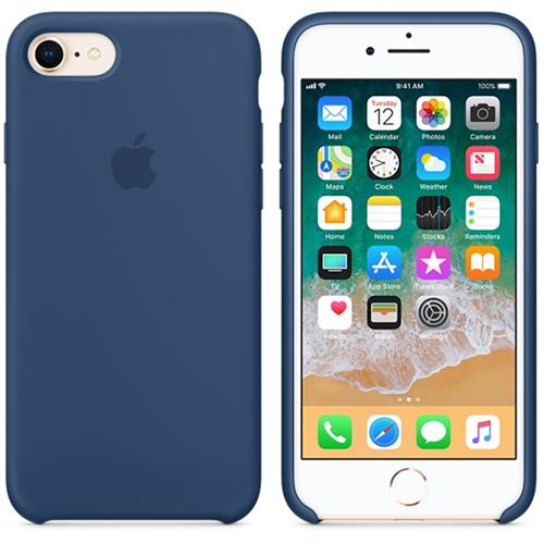 Apple iPhone 8 / 7 Silicone Case - Blue Cobalt MQGN2ZM/A
