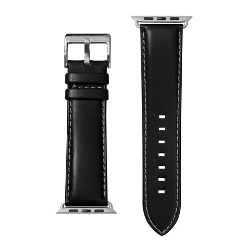 LAUT Oxford – kožený remienok na Apple Watch 42/44 mm, čierny LAUT-AWL-OX-BK