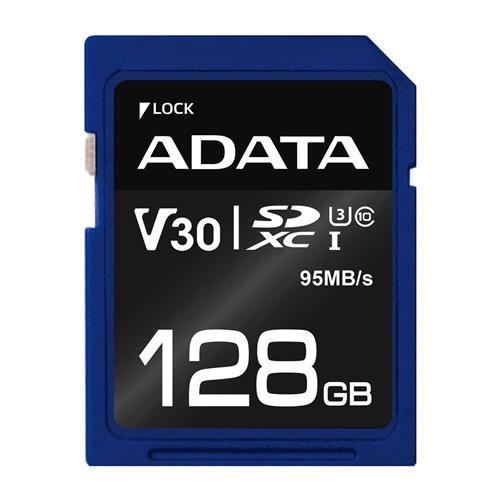 ADATA SDXC 128GB UHS-I U3 V30S 95/60MB/s ASDX128GUI3V30S-R