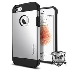 Spigen kryt Tough Armor pre iPhone SE - Satin Silver