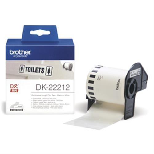 Rolka BROTHER DK22212 Continuous Film Tape (Biela 62mm)