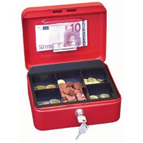 Pokladnička WEDO s klipom 200x160x90mm červená WE145299